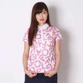 カッパ Kappa ゴルフシャツ 半袖シャツ(ランダムレタリング) KG622SS78 (ピンク)