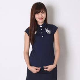 カッパ Kappa ゴルフシャツ 半袖シャツ(ITALIAモノグラム) KG622SS77 (ネイビー)