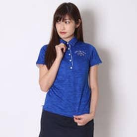 カッパ Kappa ゴルフシャツ 半袖シャツ(シャツ襟ジャガード) KG622SS75 (ロイヤルブルー)