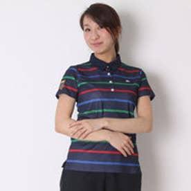 カッパ Kappa ゴルフシャツ 半袖シャツ(ITALIAボーダー) KG622SS84 (ネイビー)