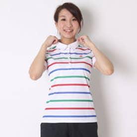 カッパ Kappa ゴルフシャツ 半袖シャツ(ITALIAボーダー) KG622SS84 (ホワイト)