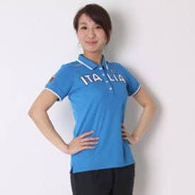 カッパ Kappa ゴルフシャツ 半袖シャツ(ITALIA胸ワッペン) KG622SS83 (イタリアンブルー)