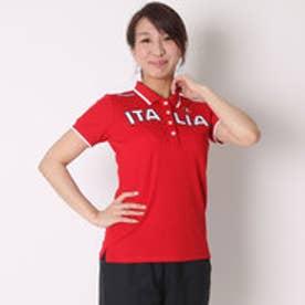カッパ Kappa ゴルフシャツ 半袖シャツ(ITALIA胸ワッペン) KG622SS83 (レッド)