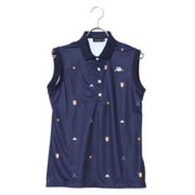 カッパ KAPPA レディース ゴルフ 半袖シャツ ノースリーブシャツ(総柄) KG822NS71