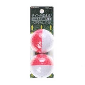 キャスコ kasco ゴルフボール  キラLINEW/R   (レッド/ホワイト)