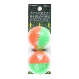 キャスコ kasco ゴルフボール  キラLINEO/G   (オレンジ/グリーン)