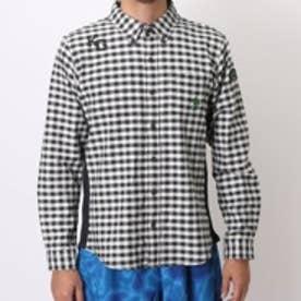 【アウトレット】キスマーク kissmark ゴルフシャツ KM-1L215B ホワイト (オフホワイトBK)
