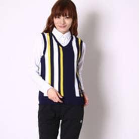 キスマーク kissmark レディース ゴルフ セットシャツ ベスト付き長袖ポロシャツ KM-1P626RYPV