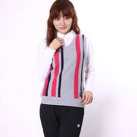 キスマーク kissmark レディース ゴルフ セットシャツ (ベスト&長袖ポロシャツ) KM-1P626RYPV