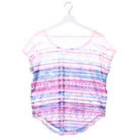 キスマーク kissmark レディース フィットネス 半袖Tシャツ KM-3I437 グラデ
