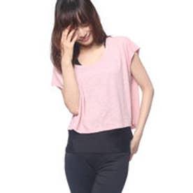 キスマーク kissmark レディース フィットネス 半袖Tシャツ KM-3L617 LB