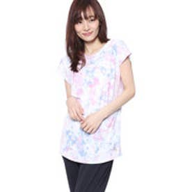 キスマーク kissmark レディース フィットネス 半袖 Tシャツ KM-3I428 ロング
