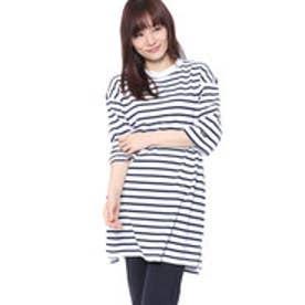 キスマーク kissmark レディース 半袖Tシャツ KM-9A508 LONG