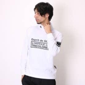 【アウトレット】ルコックスポルティフ le coq sportif ゴルフシャツ ナガソデシヤツ(ハイネツク) QG1018 (ホワイト)