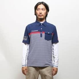 【アウトレット】ルコックスポルティフ le coq sportif ゴルフシャツ ナガソデシャツ(ニット) QG1021CP (ネイビー)