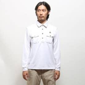 ルコックスポルティフ le coq sportif ゴルフシャツ ナガソデシヤツ(ニツト) QG1020 (ホワイト)