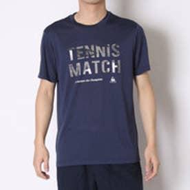 ルコックスポルティフ le coq sportif テニスTシャツ ハンソデシヤツ QT-010461 ネイビー (ネイヒ゛ー)
