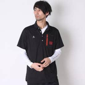 ルコックスポルティフ le coq sportif ゴルフシャツ 長袖シヤツ(レイヤード) QG1043CP (ブラック)