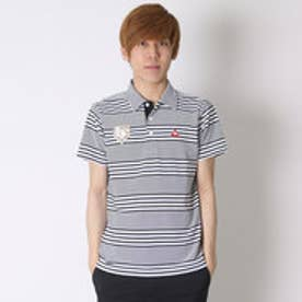 ルコックスポルティフ le coq sportif ゴルフシャツ 半袖シヤツ(ニツト) QG2961 (ブラック)
