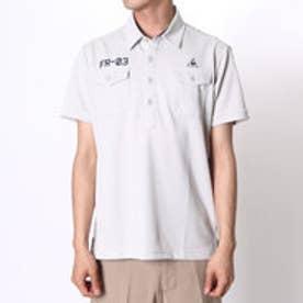 【アウトレット】ルコックスポルティフ le coq sportif ゴルフシャツ 半袖シヤツ(ニツト) QG2973 (コンクリート)