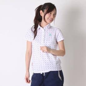 ルコックスポルティフ le coq sportif ゴルフシャツ 半袖シヤツ(ニツト) QGL2607 (ホワイト)