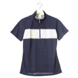 ルコックスポルティフ LE COQ SPORTIF レディース 半袖機能ポロシャツ ハーフジップ半袖シャツ QB-717171A