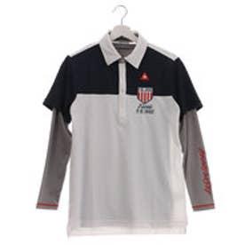 ルコックゴルフ le coq GOLF メンズ ゴルフ セットシャツ レイヤード半袖シャツ QG1065CP