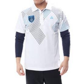 ルコックゴルフ le coq GOLF メンズ ゴルフ セットシャツ 半袖  シャツ ニットQGMLJA00W