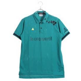 ルコックゴルフ le coq GOLF メンズ ゴルフ 半袖  シャツ ニットQGMLJA23