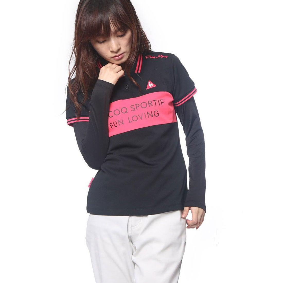 ロコンド 靴とファッションの通販サイトルコックゴルフlecoqGOLFレディースゴルフ長袖シャツ(レイヤード)QGL1012CP