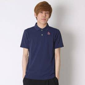 マンシングウェア Munsingwear ゴルフシャツ 半袖シヤツ(ニツト) RM1579 (ネイビー)