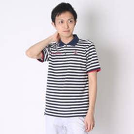 【アウトレット】マンシングウェア Munsingwear ゴルフシャツ 半袖シヤツ(ニツト) RM1581 (ネイビー)