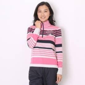 【アウトレット】マンシングウェア Munsingwear ゴルフシャツ 長袖ニット SL1256 (ピンク)