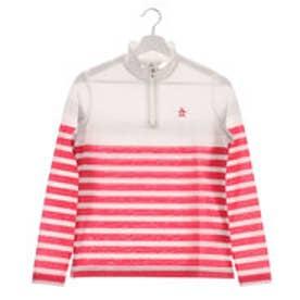 マンシングウエア Munsingwear レディース ゴルフ 長袖シャツ ジップボーダーナガソデシャツ JWLJ105