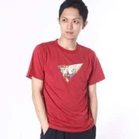 マーモット Marmot アウトドアTシャツ Fes Print H/S T MOT-S2323N  (レッド)