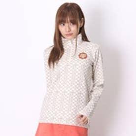 マリ クレール marie claire ゴルフシャツ 長袖 735-513 ホワイト (オフホワイト)
