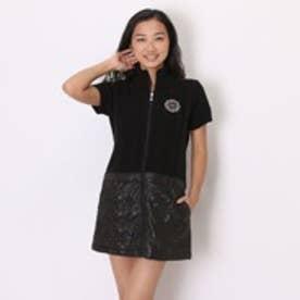 マリ クレール marie claire ゴルフセーター 長袖 735-706 ブラック (ブラック)
