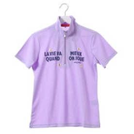 マリ クレール marie claire レディース ゴルフ 半袖シャツ 半袖ハーフジップシャツ 717620