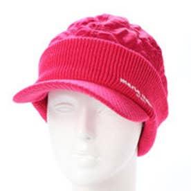 マリ クレール marie claire レディース ゴルフ ニット帽子 つば付きビーニー 738947 (ピンク)