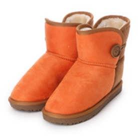 【アウトレット】マリナ marina ブーツ インヒールムートン風ブーツ 605 オレンジ 4266 (オレンジ)