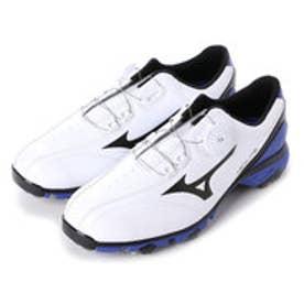 ミズノ MIZUNO ゴルフシューズ NEXLITE 003 Boa 51GM161022245 786 (ホワイト×ブルー)