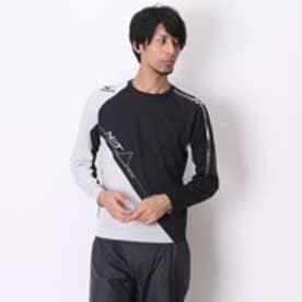 【アウトレット】ミズノ MIZUNO メンズ ランニングシャツ 長袖プラクティスシャツ U2MA551290S (ブラック SV)