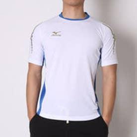 ミズノ MIZUNO サッカーゲームシャツ ゲームシャツ P2MA501501  (ホワイト×ターキッシュブルー)
