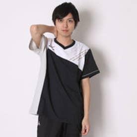 ミズノ MIZUNO バレーボールウォームアップジャケット クロスシャツ V2JC640290  (ブラック×シルバー)