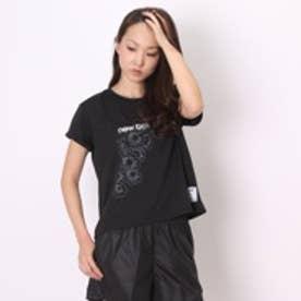 ニューバランス new balance レディースランニング半袖Tシャツ  NB NBR52234W15F ブラック  (ブラック)