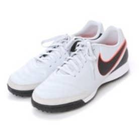ナイキ NIKE サッカートレーニングシューズ ティエンポ ジェニオ II レザー TF 819216001 3166 (ピュアプラチナ×ブラック)