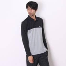 ナイキ NIKE ゴルフシャツ DRI-FIT トランジションカラーブロックLSポロ 686070060  ブラック (ブラックGY)