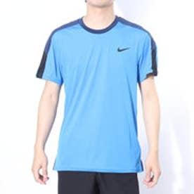 ナイキ NIKE テニスTシャツ チームコート クルー 644785435 ブルー  (ライトフォトブルー×ミッドナイトネイビー)