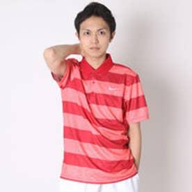 【アウトレット】ナイキ NIKE ゴルフシャツ ナイキ DRI-FIT ヴィクトリーボールドストライプSSポロ 725517 (ライトクリムゾン)