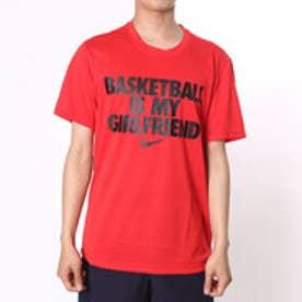ナイキ NIKE バスケットボールTシャツ  NK 816100GF  HS  (レッド×ブラック)